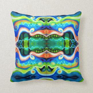 Diseño geométrico en colores pastel de la almohada