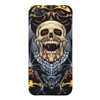 Diseño gótico de los cráneos, de los vampiros y de iPhone 5 protectores