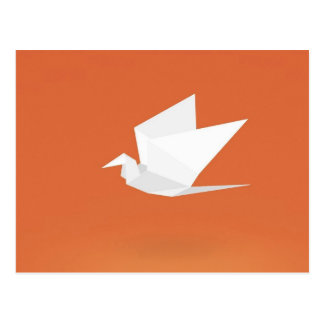 Diseño gráfico anaranjado de color del pájaro de postal