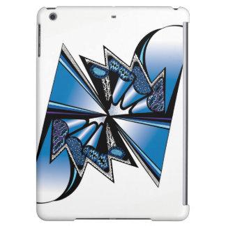 Diseño gráfico azul en el caso del iPad de Apple