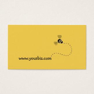 Diseño gráfico de la abeja linda simple de los tarjeta de visita