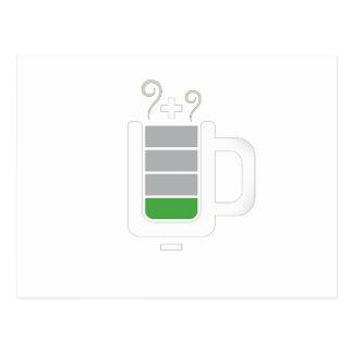 Diseño gráfico de la foto divertida de la batería  postal