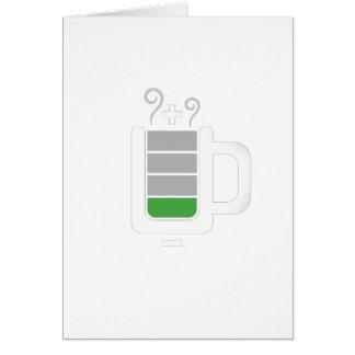 Diseño gráfico de la foto divertida de la batería tarjetas