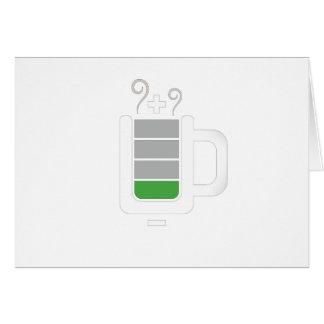 Diseño gráfico de la foto divertida de la batería  tarjeta de felicitación