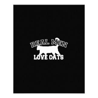 Diseño gráfico de los hombres de los gatos reales folleto 11,4 x 14,2 cm