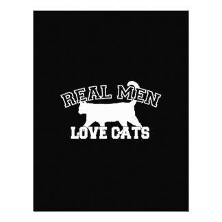 Diseño gráfico de los hombres de los gatos reales folleto 21,6 x 28 cm