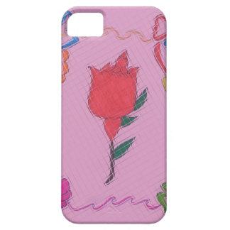 Diseño gráfico del arte color de rosa especial de iPhone 5 Case-Mate cobertura