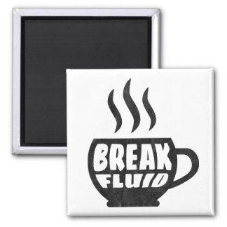 Diseño gráfico del imán del café del Grunge flúido