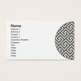 Diseño gráfico elegante griego geométrico del tarjeta de negocios
