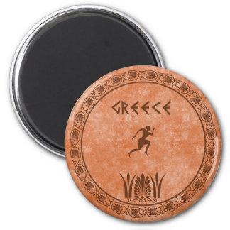 diseño griego del cyrcle imán redondo 5 cm