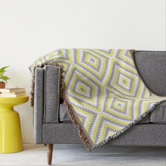 Diseño gris amarillo manta