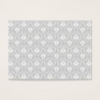 Diseño gris blanco y en colores pastel del damasco tarjeta de negocios