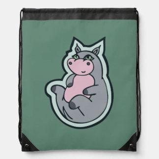 Diseño gris joven feliz del dibujo del trullo del mochilas