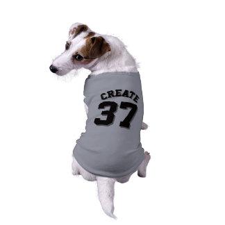 Diseño gris y negro del jersey de los deportes del camiseta sin mangas para perro