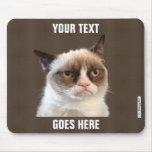 Diseño gruñón de Cat™ su propio Mousepad Tapetes De Ratones