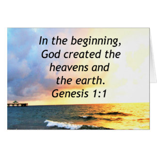 DISEÑO HERMOSO DE LA CITA DE LA BIBLIA DEL 1:1 DE TARJETA