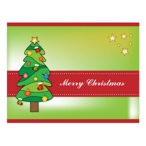 Dise o hermoso del rbol de navidad postal zazzle - Diseno de arboles de navidad ...