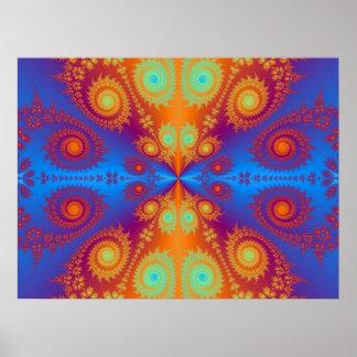 Diseño hipnótico del Hippie Posters