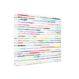 Diseño II del texto de Los Ángeles Lienzo Envuelto Para Galerías