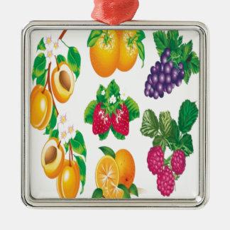 Diseño impresionante de la selección de la fruta adorno de navidad