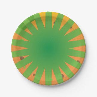 Diseño impresionante estupendo de los rayos del plato de papel