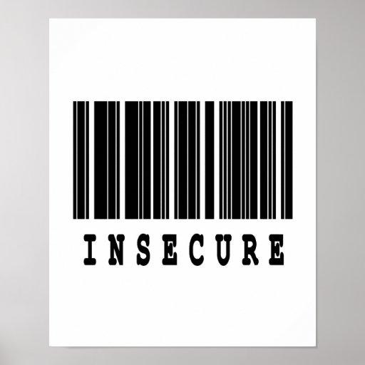 diseño inseguro del código de barras posters