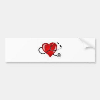 Diseño inspirador del doctor Heart del amor Pegatina Para Coche