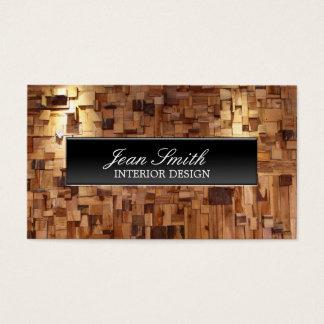 Diseño interior de madera decorativo moderno tarjeta de negocios