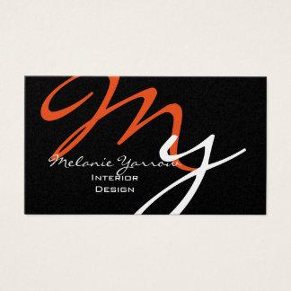 Diseño interior genérico tarjeta de visita