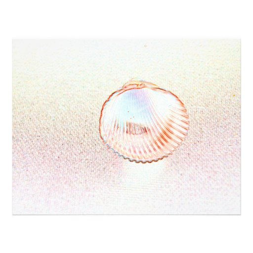 diseño invertido del seashell del esquema de la tarjetón