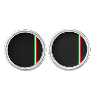 Diseño italiano minimalista de la bandera gemelos