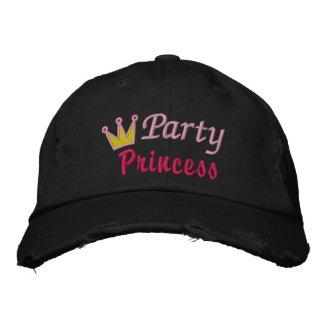 Diseño lindo de princesa Crown Queen Pink Yellow Gorro Bordado