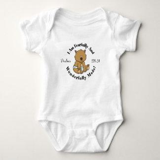 Diseño lindo del 139:14 de los salmos body para bebé