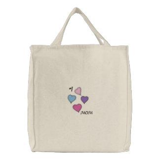 Diseño lindo del amor de la mamá de los corazones  bolsas