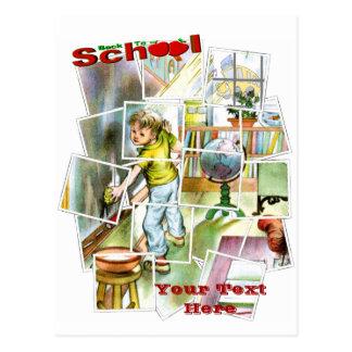 Diseño lindo del ayudante de los maestros tarjeta postal