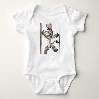 diseño lindo del burro de la ropa del bebé body para bebé