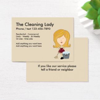Diseño lindo del servicio de la limpieza tarjeta de negocios