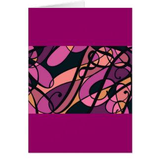 Diseño magenta del remolino del extracto del tarjeta de felicitación