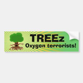 Diseño malvado de los terroristas del oxígeno del  pegatina de parachoque