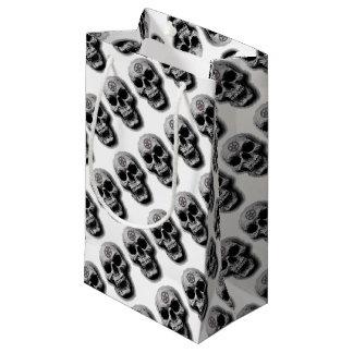 Diseño malvado satánico del cráneo bolsa de regalo pequeña