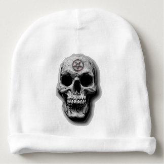 Diseño malvado satánico del cráneo gorrito para bebe