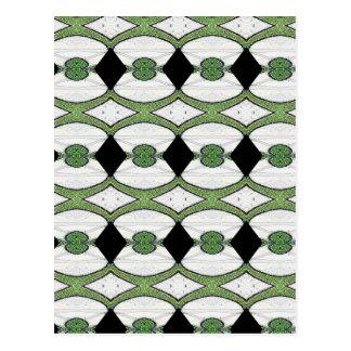 Diseño maravilloso de la materia textil antigua postal