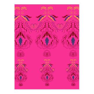 Diseño maravilloso rosado de la gente de los postal