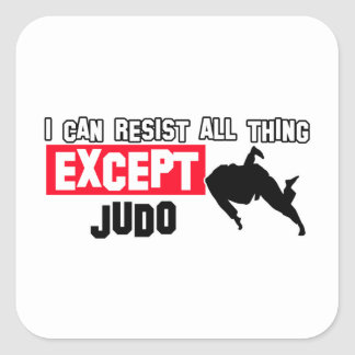 diseño marcial del judo pegatina cuadradas