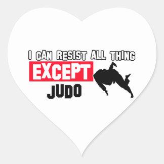 diseño marcial del judo pegatina en forma de corazón