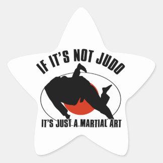 diseño marcial del judo pegatina en forma de estrella