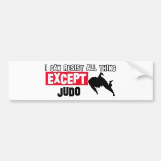 diseño marcial del judo pegatina para coche