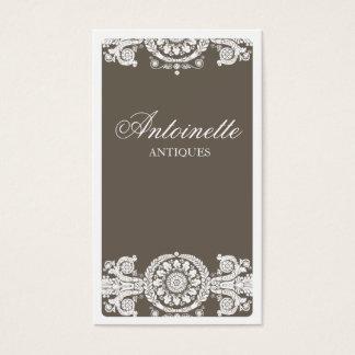 Diseño marrón claro adornado tarjeta de negocios
