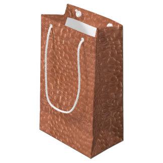 Diseño martillado de la cobre-mirada bolsa de regalo pequeña