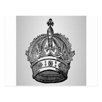 Diseño medieval de la corona de la heráldica postal